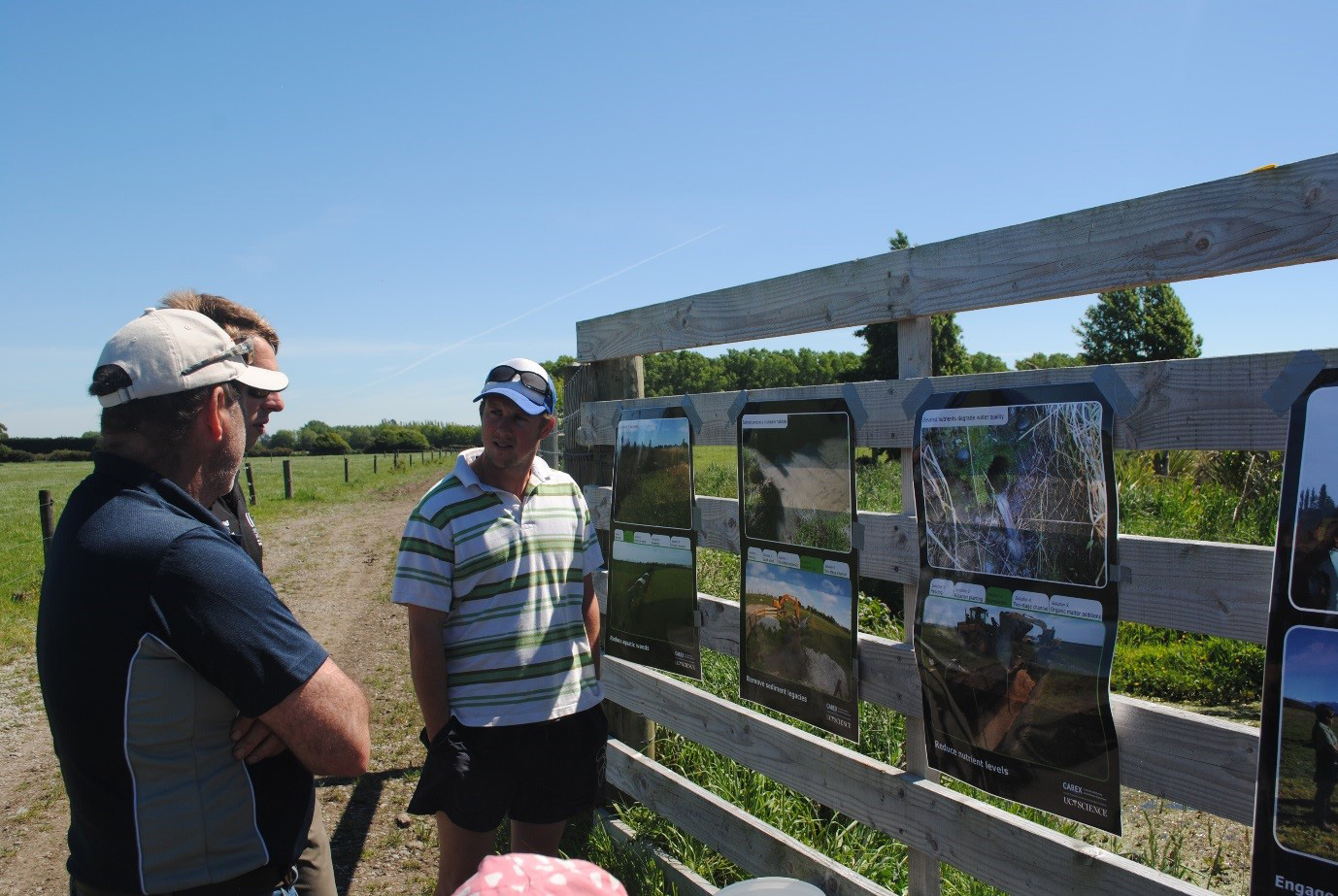Sharing our findings with local landowners at a CAREX Open Day.