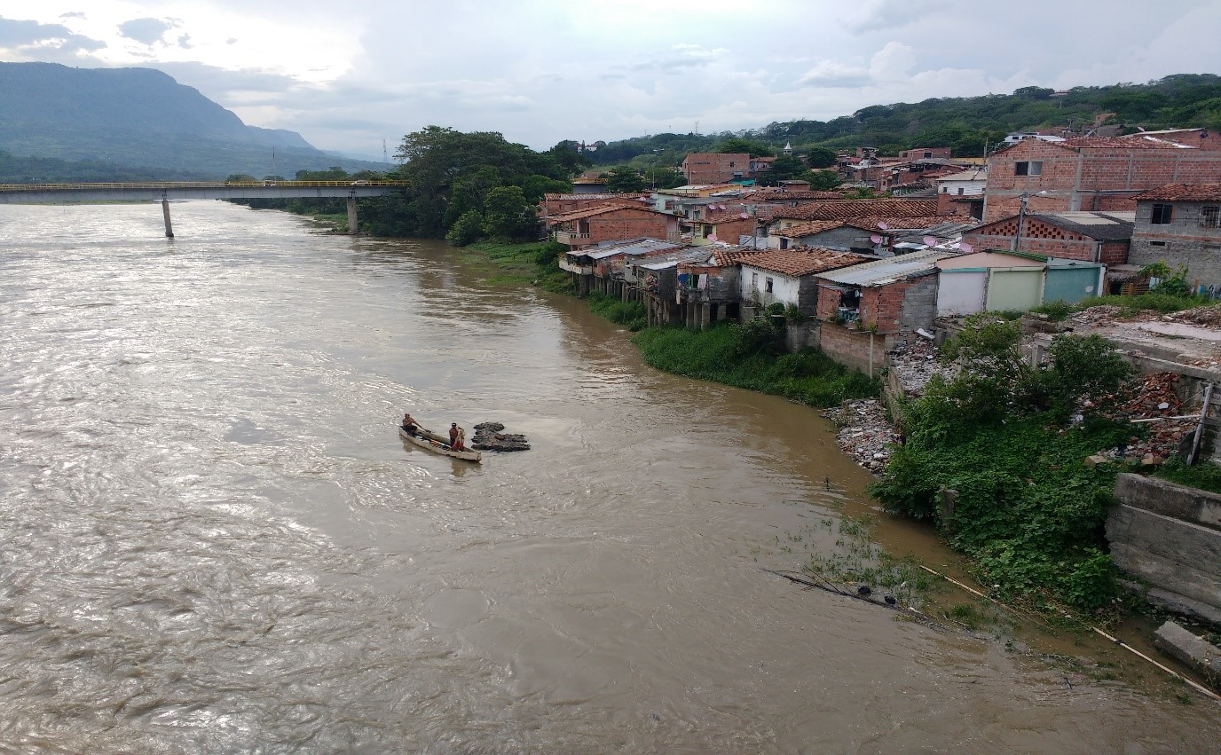 cauca river, communities, village, boats, amazon, colombia