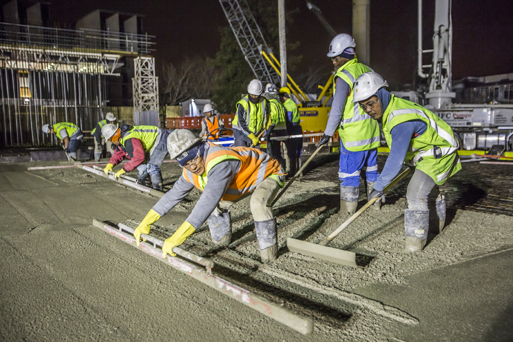 Concrete pour, Structural Engineering Laboratory - 28.8.15 at 5.00am