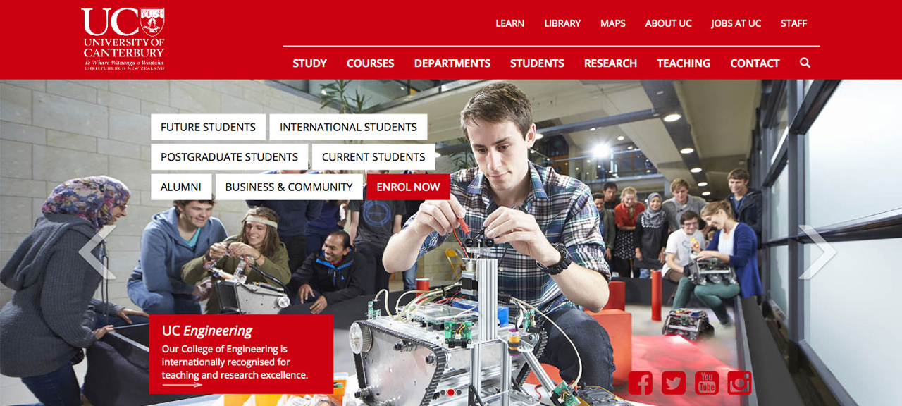 New UC home page launched
