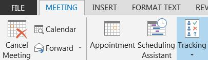 Outlook Tracking button