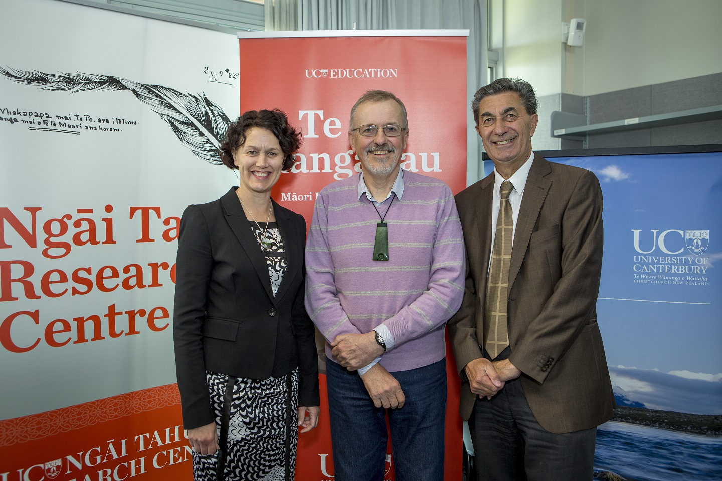 Maori Research Colloquium, 4.11.16 Reflections and Projections Emeritus Prof Russell Bishop. Gail Gillon, Angus Macfarlane.