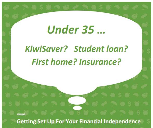 Financial seminar under 35
