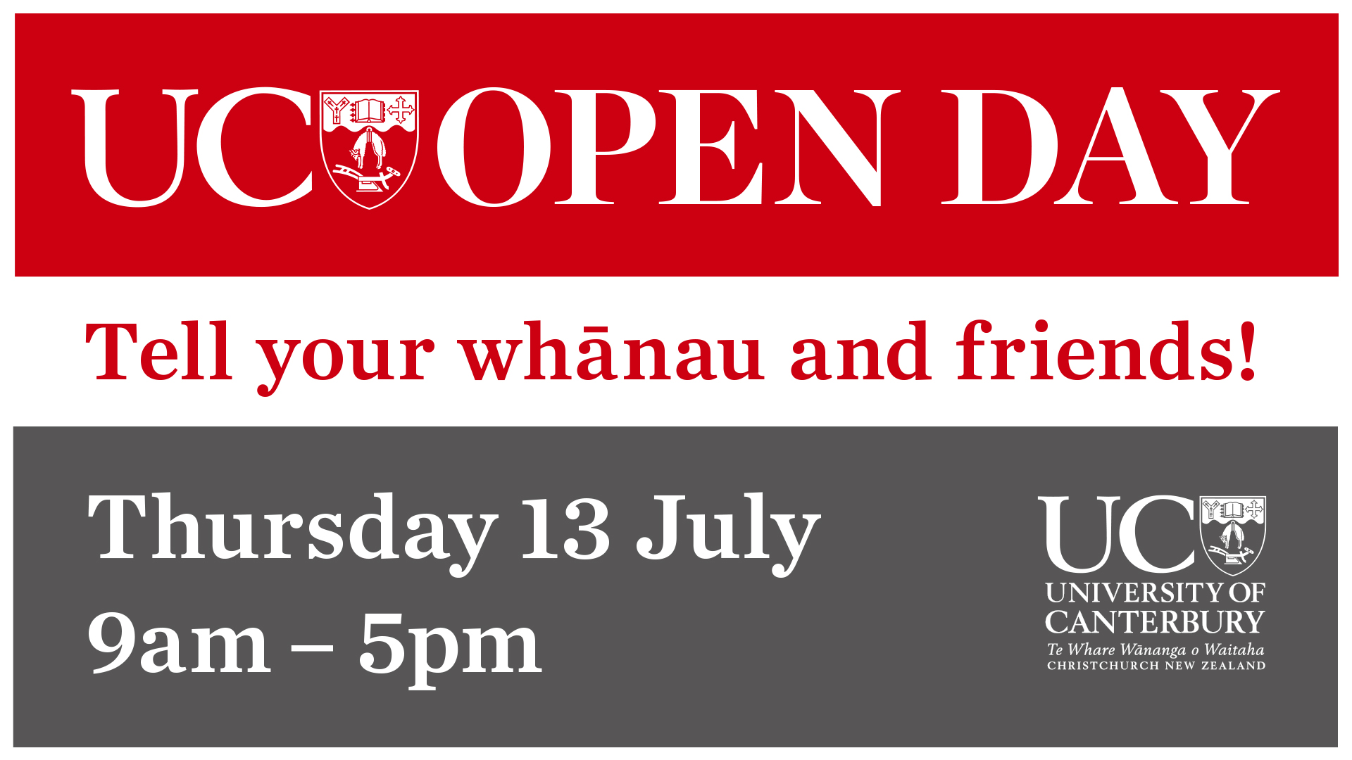 Open Day on 13 July