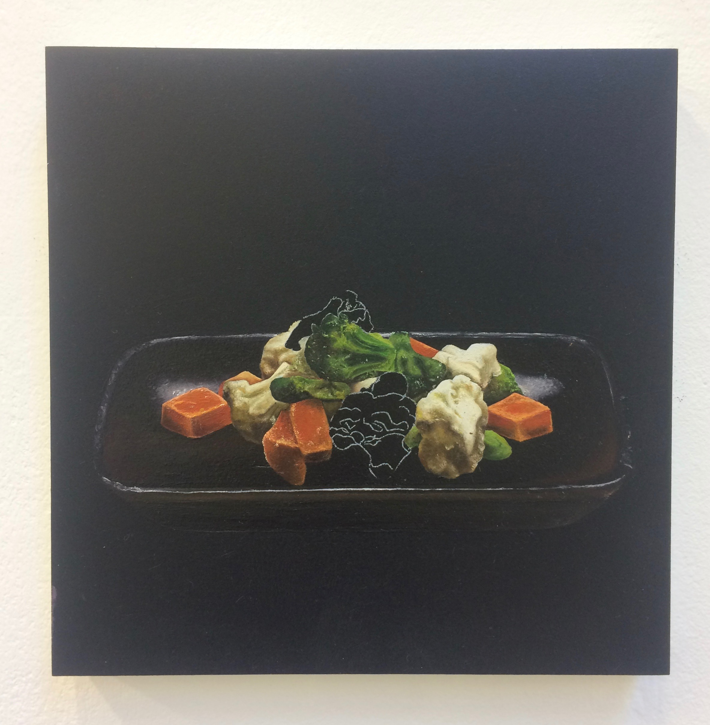 "Charlotte Jackson – ""This selection of works is from my 'Instant Food Series' 2016. The body of work consists of 12 paintings in total, and was created for my third year painting project. The series focuses on the depiction of various instant foods you can find on a day-to-day basis. The original inspiration for this series was to generate a body of work that reflected the historical antecedents of Still Life, but could also fit into a Contemporary context. As the series evolved, I decided to explore the realms of scale, and how size affected compositional elements within the work."""