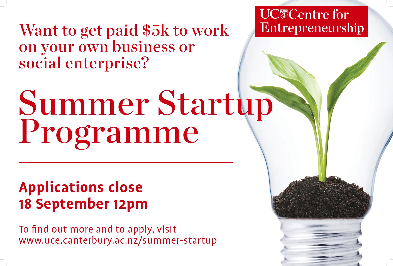 UCE Summer Startup Programme