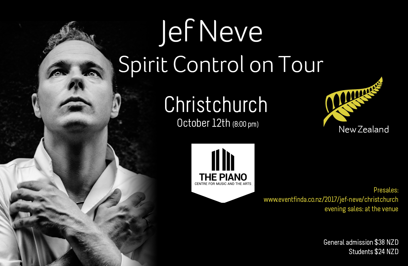 Jef Neve Spirit Control on tour