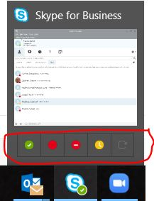 Create Space by Changing your Skype for Business Status