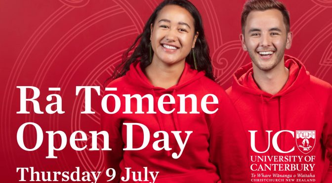 Be part of Rā Tōmene | On campus Open Day this year!