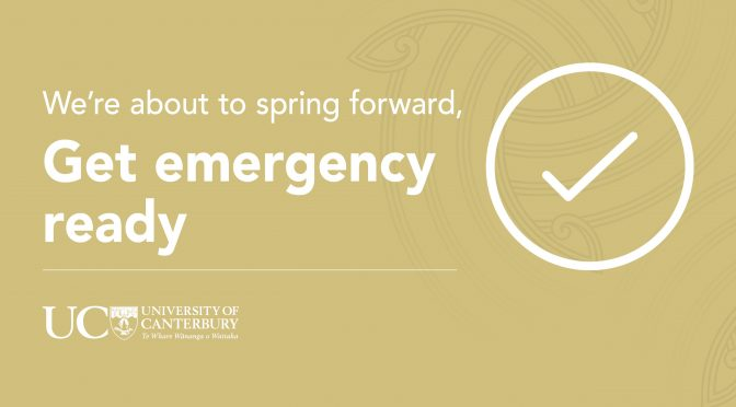 We're about to spring forward, are you emergency ready?