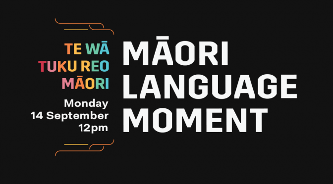 Be part of the Māori Language Moment