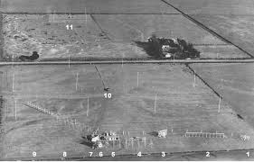 arial picture of radars in open field.