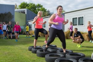 Outdoor bootcamp running tyres