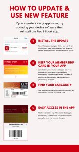 Instructions on how to add your membership card into your app