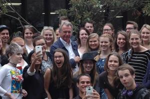 Sam Neill visits Canterbury students