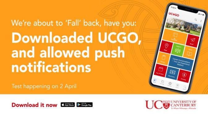 UCGO emergency test taking place on 1 April