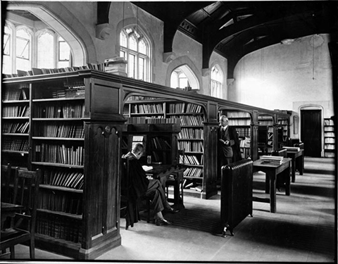 MB1448, University of Canterbury Research Photograph Collection, item 4407, 'The Library, Canterbury College'
